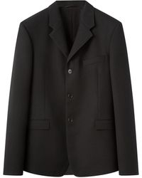 Lemaire Single-breasted Cavalry-twill Blazer - Black