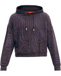 Eckhaus Latta Abstract-print Cotton-jersey Hooded Sweatshirt - Black