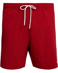Saturdays NYC Short de bain stretch Ritchie - Rouge