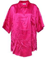 Balenciaga サテンシャツ - ピンク