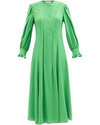 Chloé Chloé ピンタック クレープドレス - グリーン