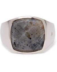 Tom Wood - Larkvite Sterling Silver Signet Ring - Lyst