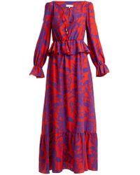 e42ccdcb6fb53 Borgo De Nor - Lily Marquesa Floral Print Silk Dress - Lyst