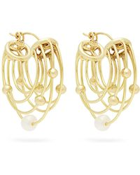 Ellery - Classical Scaffolding Hoop Earrings - Lyst