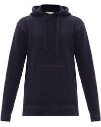 Officine Generale Olive Hooded Wool-blend Sweatshirt - Blue