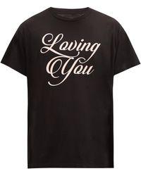 Amiri Loving Youプリント コットンtシャツ - ブラック