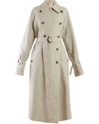 ROKSANDA Trench-coat en lin à sequins Daksa - Gris