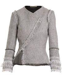 Roland Mouret - Kirkham Asymmetric Tweed Jacket - Lyst