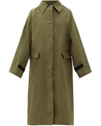 Kassl Trench-coat en coton enduit de cire Original - Vert
