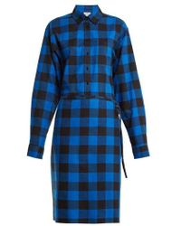 Vetements - Tie-waist Checked Cotton-flannel Shirtdress - Lyst