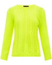 La Fetiche Ivy Shrunken-style Wool Sweater - Yellow