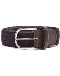 Andersons Woven Elasticated Belt - Blue