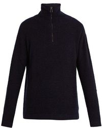 Burberry - Zipped Cashmere Knitted Sweater - Lyst