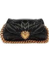 Dolce & Gabbana ディヴォーション ナイロンショルダーバッグ - ブラック