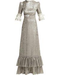 The Vampire's Wife - Veneration Ruffle Trimmed Silk Blend Dress - Lyst