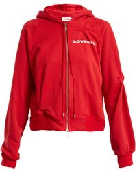 CHARLES JEFFREY LOVERBOY - Hooded Logo-print Sweatshirt - Lyst