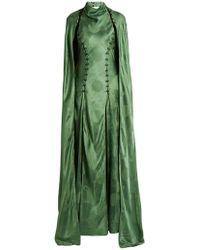 Rosie Assoulin - El Capo Detachable Cape Satin Gown - Lyst