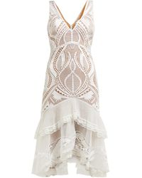 Jonathan Simkhai Guipure Appliqué V-neck Dress - White