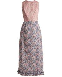 The Vampire's Wife - Mermaid Liberty Floral-print Cotton Dress - Lyst