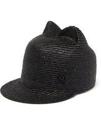 Maison Michel Jamie Straw Hat - Black