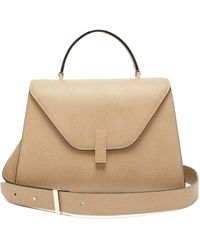 Valextra Iside Large Leather Top-handle Bag - Natural
