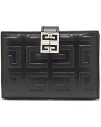 Givenchy 4g レザー バイフォールドウォレット - ブラック