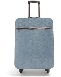 Stella McCartney - Falabella Crocodile-effect Faux-leather Suitcase - Lyst