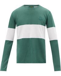Iffley Road Hove Striped Technical-jersey Long-sleeve T-shirt - Green