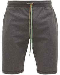 Paul Smith Striped-drawstring Cotton-jersey Pajama Shorts - Gray