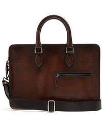 Berluti - - Un Jour Mini Leather Briefcase - Mens - Brown - Lyst