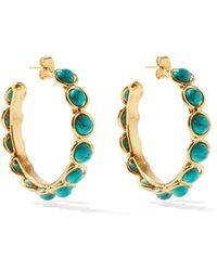 Sylvia Toledano Candies Turquoise Hoop Earrings - Multicolour