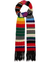 Burberry - Rainbow Striped Cashmere Blend Scarf - Lyst