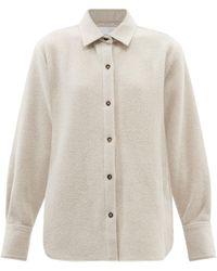 FRAME オーバーサイズ ウールブレンド シャツジャケット - マルチカラー