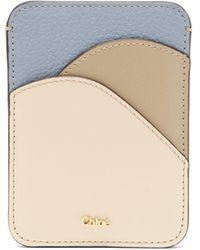 Chloé Chloé ワルデン カラーブロック グレインレザーカードケース - マルチカラー