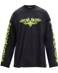 Vetements Gothic Logo-print Cotton-jersey T-shirt - Black