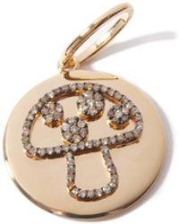 Rosa De La Cruz マッシュルーム ダイヤモンド ゴールドチャーム - マルチカラー