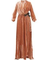 Maria Lucia Hohan Kamelia グログランリボン ベルベット ドレス - マルチカラー