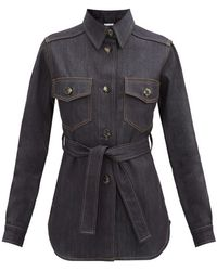 Bella Freud ベルテッド デニムシャツジャケット - マルチカラー