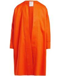 Maison Rabih Kayrouz No-lapel Wool Coat - Orange