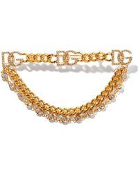Dolce & Gabbana Dgロゴ クリスタルブローチ - マルチカラー