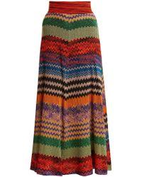 Missoni - Zigzag-striped Knit Midi Skirt - Lyst