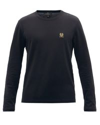 Belstaff コットン ロングスリーブtシャツ - ブラック