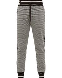 Dolce & Gabbana Houndstooth Knit Track Trousers - Red