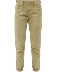 FRAME Trapunto Zip-cuff Cotton-blend Cargo Pants - Multicolor