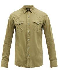RRL Buffalo Embroidered Cotton-canvas Shirt - Green