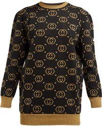 Gucci - Jacquard Logo Knit Jumper - Lyst