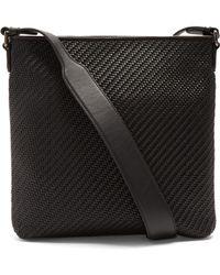 Ermenegildo Zegna - Pelle Tessuta Leather Messenger Bag - Lyst