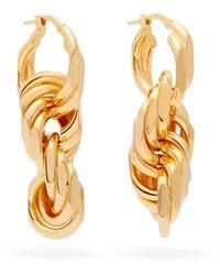 Bottega Veneta - Interlocking-hoop Sterling-silver Earrings - Lyst