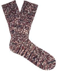 Undercover - Melange Knit Cotton Blend Socks - Lyst