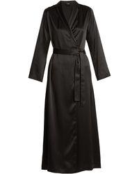 La Perla Silk-satin Robe - Black